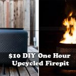 $10 DIY One Hour Upcycled Firepit