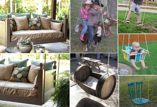 10 DIY Patio and Garden Swings