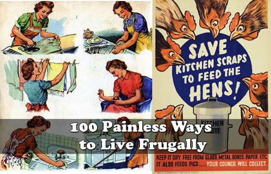 100 painless ways to live frugally for Ways to live green