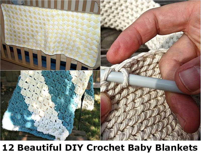 12 DIY Crochet Baby Blankets