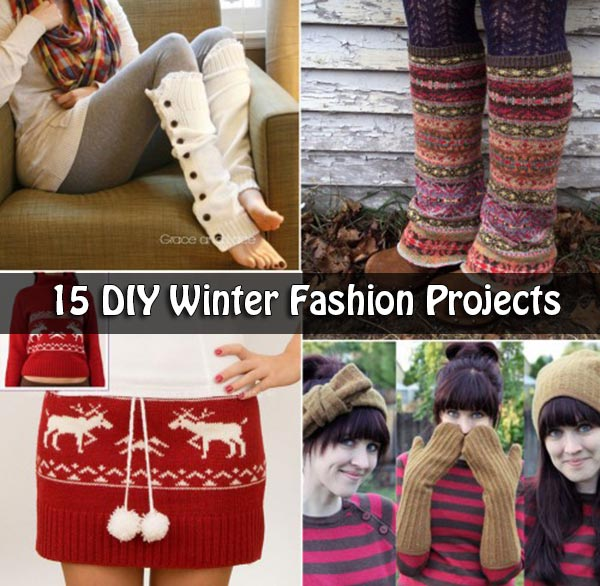 15 DIY Winter Fashion Projects