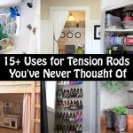 15+ Ways To Use Tension Rods In Your Home That You Never Thought Of