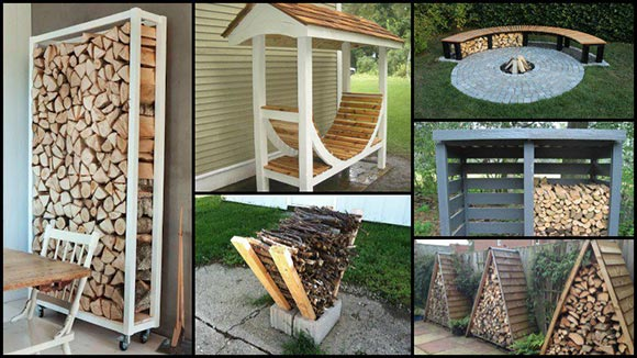 18 Firewood Storage Ideas