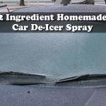 2 Ingredient Homemade Car De-Icer Spray