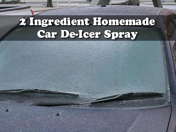 2 Ingredient Homemade Car De-Icer Spray