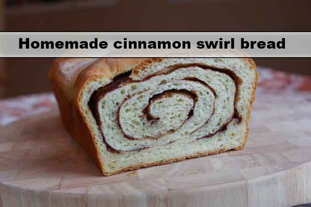Homemade cinnamon swirl bread - Living Green And Frugally
