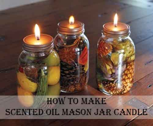 How to make scented oil mason jar candle for How to scent candles
