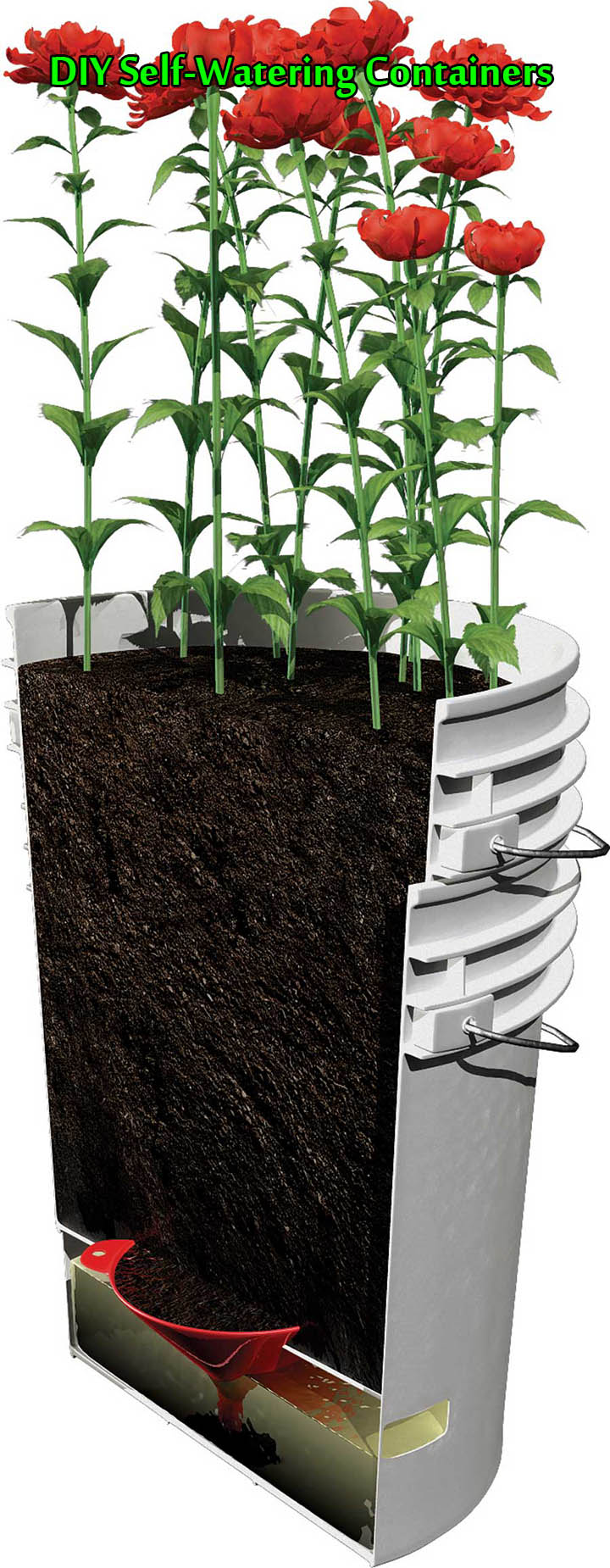 diy self watering containers. Black Bedroom Furniture Sets. Home Design Ideas