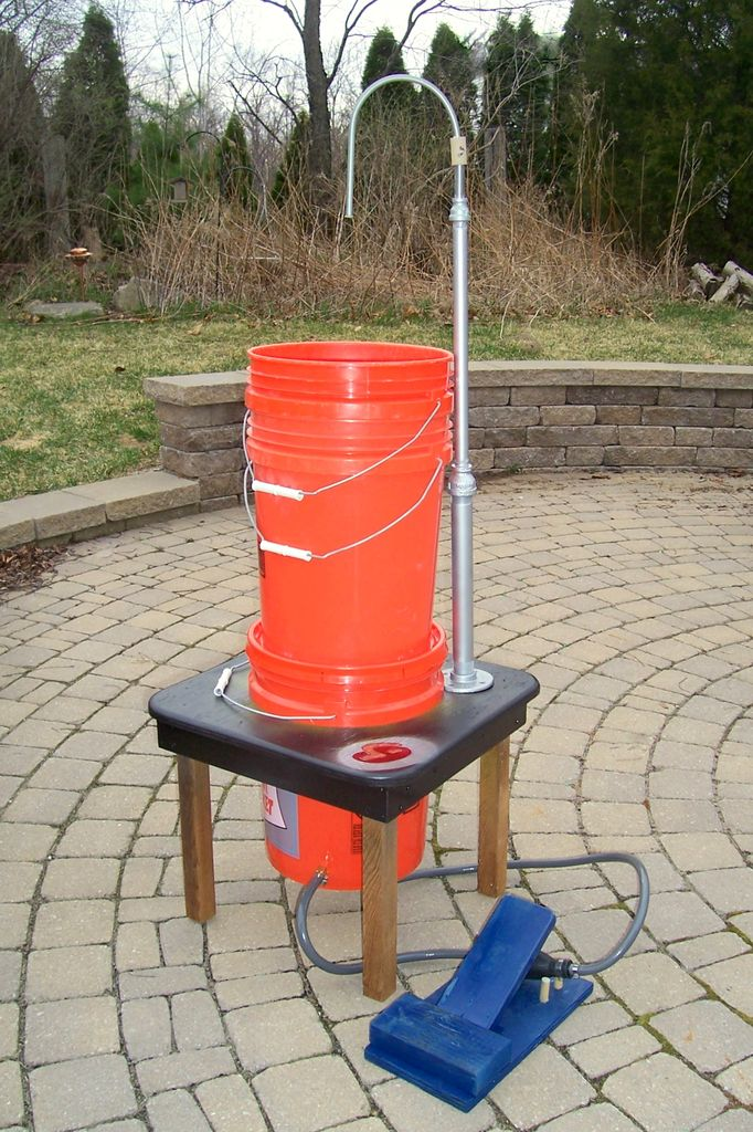 Build Your Own Outdoor Foot Pump Field Sink