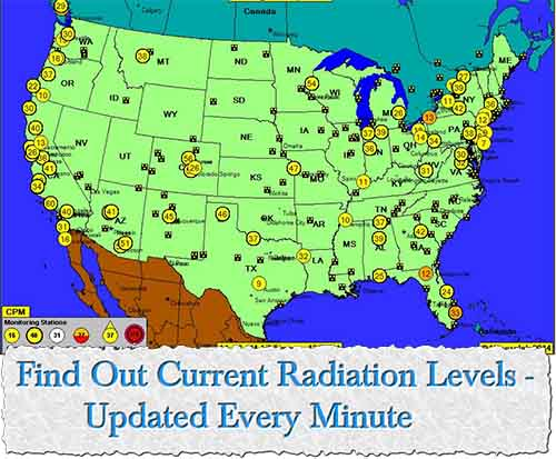 Find Out Current Radiation Levels - National Radiation Map updated every minute