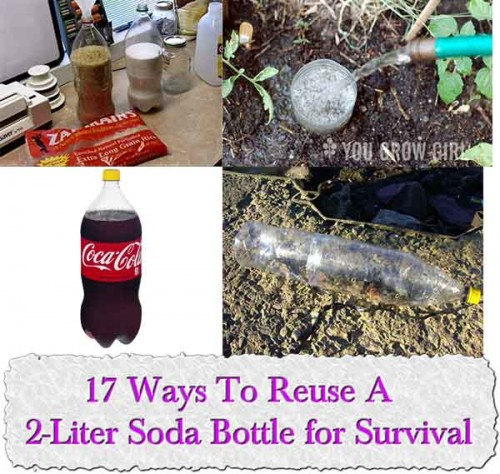 17 Ways To Reuse A 2-Liter Soda Bottle for Survival