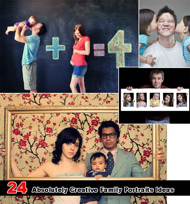 24 Absolutely Creative Family Portraits Ideas