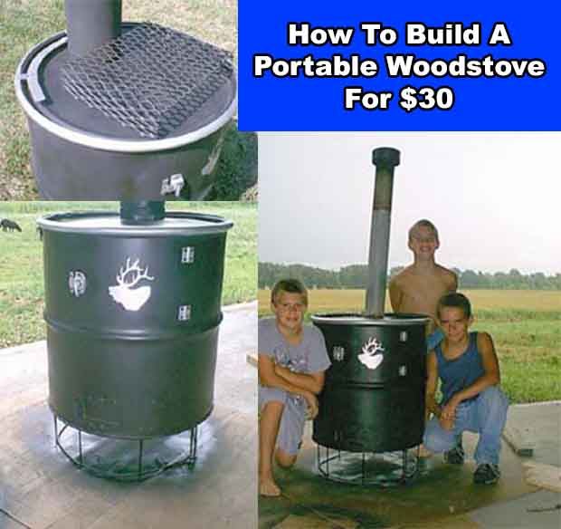How to build a portable woodstove for 30 for Portable rocket stove plans