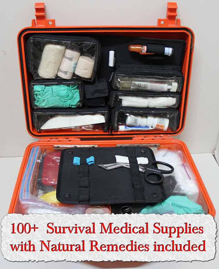 100+ Survival Medical Supplies with Natural Remedies included