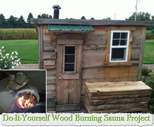 do it yourself wood burning sauna project. Black Bedroom Furniture Sets. Home Design Ideas