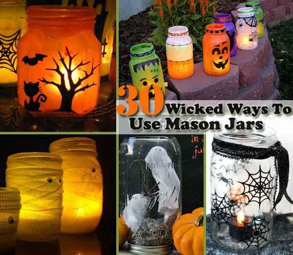 30 Wicked Ways to Use Mason Jars This Halloween
