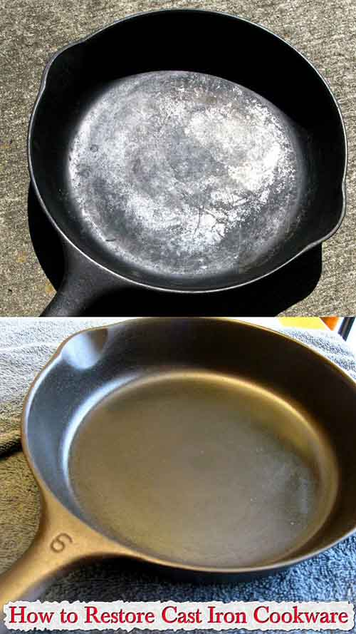 how to restore cast iron cookware. Black Bedroom Furniture Sets. Home Design Ideas