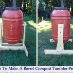 How To Make A Barrel Compost Tumbler Project