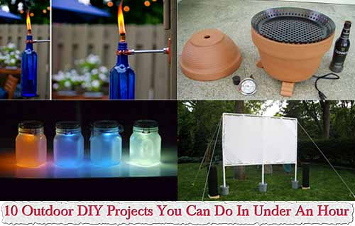 10 Outdoor DIY Projects You Can Do In Under An Hour