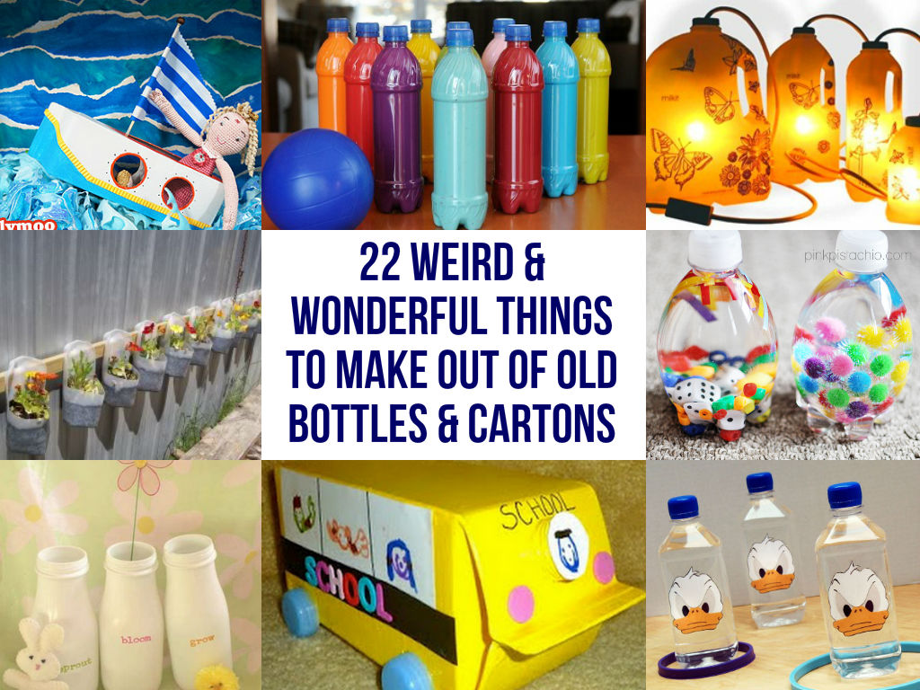 22-Weird-Wonderful-Things-To-Make-Out-Of-Old-Bottles-Cartons