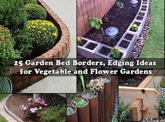 Garden Border Edging Ideas charming border and edging ideas for your vegetable and flower gardens 25 Garden Bed Borders Edging Ideas For Vegetable And Flower Gardens