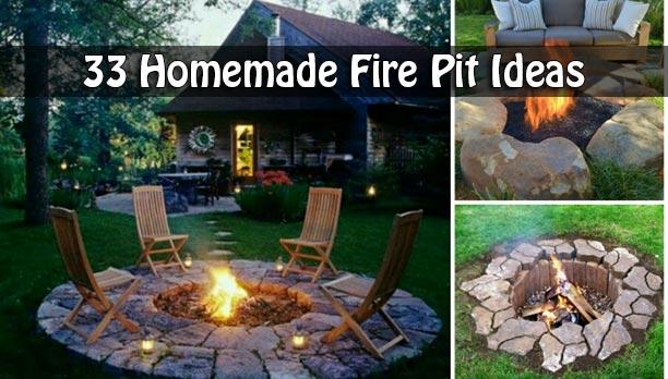 33 Homemade Fire Pit Ideas
