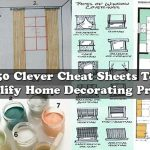 50 Clever Cheat Sheets To Simplify Home Decorating Projects