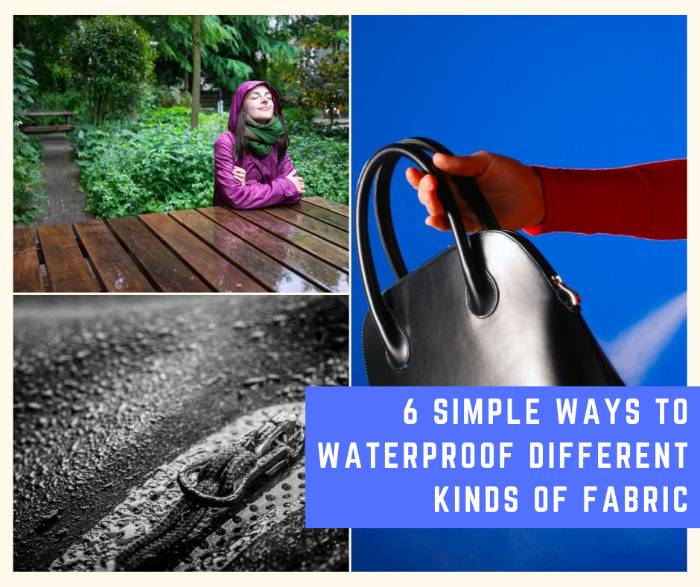 6 Simple Ways to Waterproof Different Kinds of Fabric