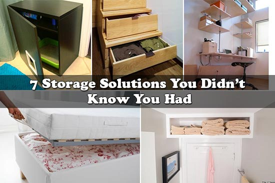 7 Storage Solutions You Didn't Know You Had