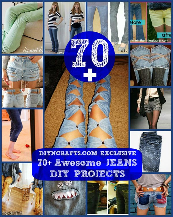 70 Awesome Things You Can Make & Do With Old Jeans