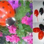 Adorable Garden Ladybug Out Of Plastic Spoons