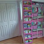 Behind Closet Door Storage Idea