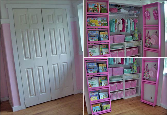 Behind Closet Door Storage Idea