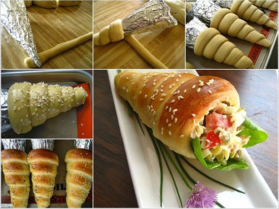 Bread Cones Recipe
