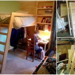 How To Build A Loft Bed with Built In Shelves