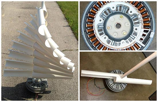 convert washing machine motor to generator