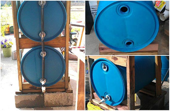 How to build a 3 drum rain collection system for Build a rainwater collection system