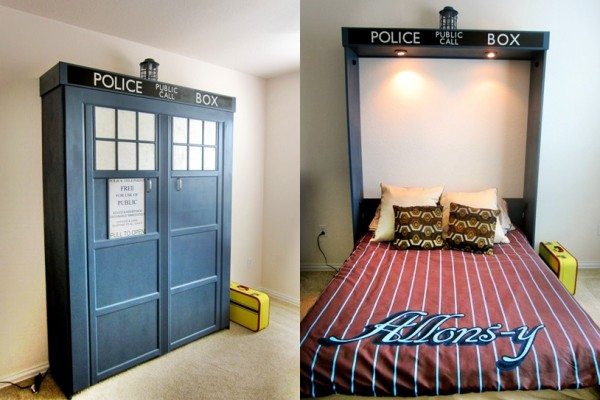 how to build a guest room tardis murphy bed. Black Bedroom Furniture Sets. Home Design Ideas