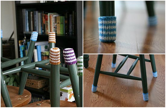 Free Pattern: Chair Socks To Protect Your Hardwood Floors
