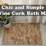 Chic and Simple Wine Cork Bath Mat