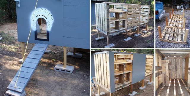 DIY Chicken Coop Made From Pallets