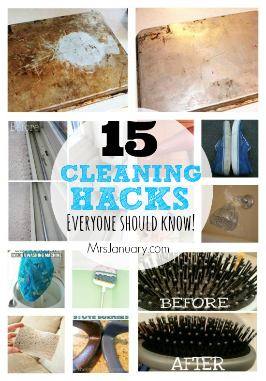 15 Cleaning Hacks Everyone Should Kno