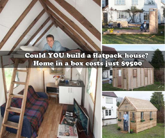 Could YOU build a flatpack house? Home in a box costs just $9500
