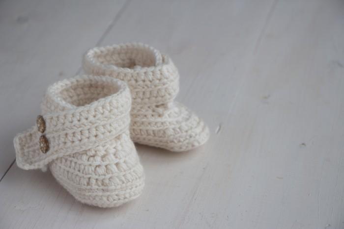 Crochet baby boots