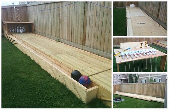 DIY Backyard Bowling Alley Tutorial