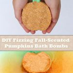 DIY Fizzing Fall-Scented Pumpkins Bath Bombs