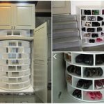 DIY Lazy Susan Cabinet for Shoes