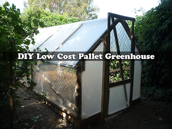 DIY Low Cost Pallet Greenhouse