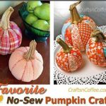 DIY No-Sew Patchwork Pumpkins