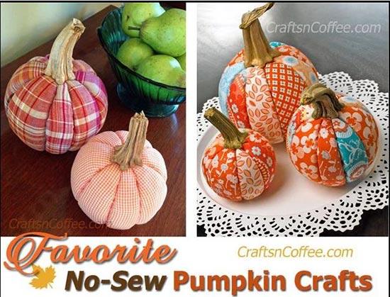 DIY No-Sew Patchwork Pumpkins